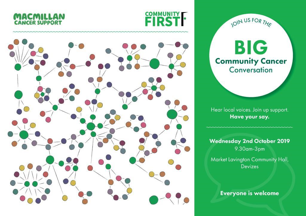 Community First Cancer Conversations Invitation